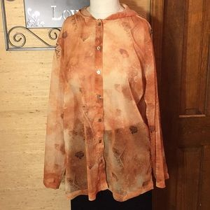 Sheer Blouse/ Cover up.
